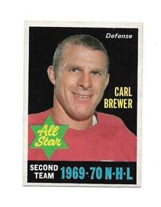 1970-71 OPC:#243 Carl Brewer All-Star