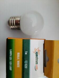 10 x Spectrum LED Lampa LED 1W  E27