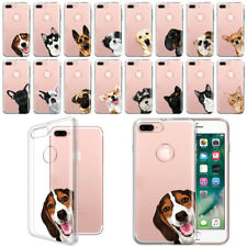 "For Apple iPhone 8 Plus / 7 Plus 5.5"" Dog Cat Ultra Thin Clear Tpu Case Cover"