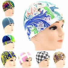 Adult Colorful Swim Cap Flexible Durable Elasticity Swimming Hat Random Color FO