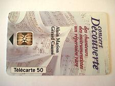 PHONECARD TELECARTE FONDATION FRANCE TELECOM ALAIN MARION GERARD CAUSSE MUSIQUE