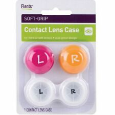 Flents Soft-Grip Contact Lens Case Leak Proof Colors May Vary 1 Each, 5 Pack