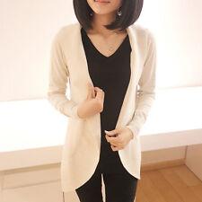 Women Casual Loose Knitted Sweater Long Sleeve Tops Cardigan Coat Jacket Outwear