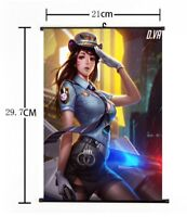 "Hot Anime Blizzard Game Overwatch D.VA Home Decor Poster Wall Scroll 8""×12"" 03"