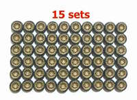 1:64 rubber tires & axles - CE28 fit Kyosho Hot Wheels Tomica diecast - 15 sets