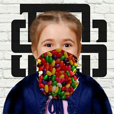 Children's Kid's Face Mask Jelly Beans Candy Sweets Pattern Neck Warmer Snood