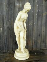 "Woman Semi Naked Lady Statue Figurine Figure Goddess Roman Flea Market apx 15"""