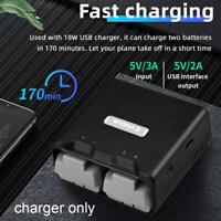Two-way Charger Battery Charging Charger PC For DJI Mavic Mini 1/2 Drone Black