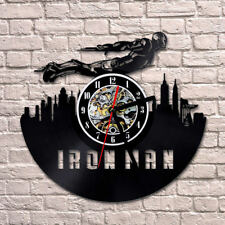 Ironman Wall Clock Modern Design Vinyl CD Watch Classic Wall Clocks Home Decor
