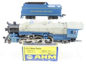 HO Scale AHM 5087-H B&O Baltimore & Ohio 4-6-2 Steam w/ Tender - Does Not Run