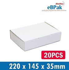 20x Mailing Box Brown 220 X 145 X 35mm Diecut DVD CD Mailer Video DVD CD Bx6