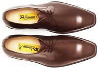 Mens Derby Dress Shoes - Brown - Handmade - Calfskin Leather