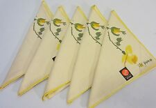 Set/5 New Vintage VERA Yellow Rose 16 In Square LINEN Napkins NWT NOS