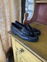 Size 9 Women's Black Bass Weejuns Marietta II Loafers w Tassels