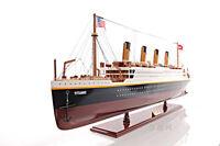 """RMS Titanic Ocean Liner Wooden Model 25"""" White Star Line Cruise Ship New"""