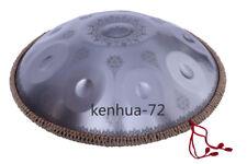 "22 ""9 Notes Professional HandPan Drum Handmade Good Sound - Datura carving"