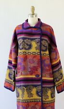 SOUTHWESTERN AZTEC VINTAGE WOOL BLANKET COAT FIT 10 to 14