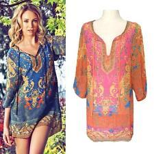 Unbranded V-Neck 3/4 Sleeve Regular Size Dresses for Women