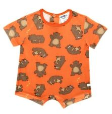 Oshkosh B'gosh Short Sleeves Romper (Rust Hug a Bear Print) Size 12 Months