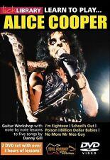 Fare clic su Libreria imparare a giocare ALICE COOPER METAL ROCK lezione CHITARRA ELETTRICA DVD