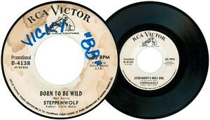 Philippines STEPPENWOLF Born To Be Wild 45rpm Record