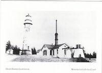 """The Grays Harbor Lighthouse"" ...@ Washington's Outer Coast   {Postcard} (A80-1)"