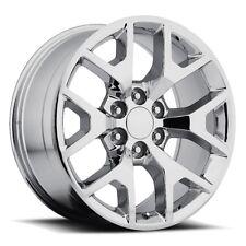 "4) 22"" Chrome GMC Sierra Style Chevy Silverado Wheels Rims Snowflake 20 24 26"