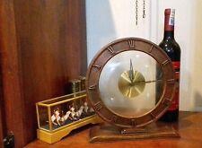 MAUTHE 1900's WOODEN / GLASS GERMAN 8 DAYS ART DECO DESK CLOCK
