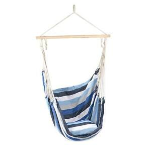 Hanging Hammock Swing Chair Outdoor Garden Rope Seat With Cushion Christow