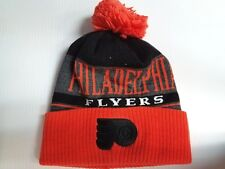 Philadelphia Flyers Adidas Knit Hat Heathered Block Beanie Pom Stocking Cap NHL