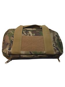 Tactical Airsoft Padded Nylon Pistol Gun Bag / Carry Case Multicam - (UK SELLER)