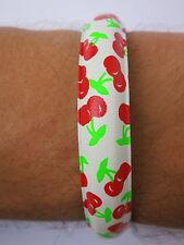 Cherries Cherry Fruit Rockabilly Pinup Ladies Girls Bangle Bracelet Wristband