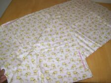 New Cotton Flannel Material Baby Pink with Yellow Bunnies Bunny BTY by the yard