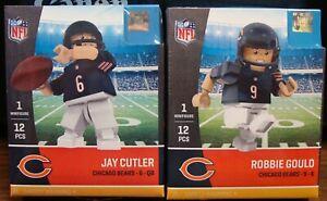 ROBBIE GOULD #9 & JAY CUTLER #6 CHICAGO BEARS MINIFIGURES 🐻