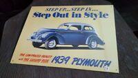 PLYMOUNTH - 1939 -  Placa metalica litografiada publicidad 38 x 28 cm. replica