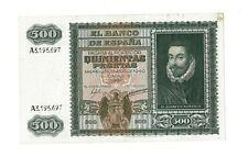 Billete España 500 Pesetas 1 Enero 1940 Juan de Austria Excelente Billete