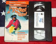 Warren Miller's Snowboarding Tweaked & Twisted (VHS, 1995) Ski Video Rare Tape