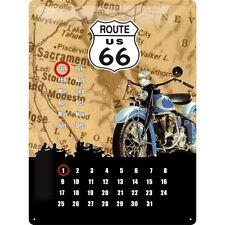 Nostalgie Blechschild - Route 66 - Blechkalender - Blechschilder