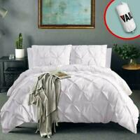Vailge 3 Piece Pinch Pleated Duvet Cover With Zipper Closure, 100% 120Gsm Microf