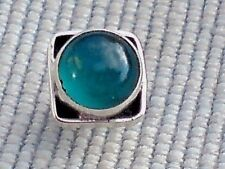 SINGLE STERLING SILVER 7mm.STUD EARRING with GREEN ONYX CABOCHON STONE £5.50 NWT