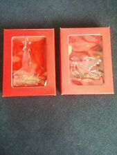 Gorham Holiday Peace & Dove Cry Tree Ornaments In Original Box