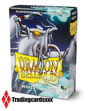♦Yu-Gi-Oh!♦ 60 Protèges Cartes/Sleeves SMALL Dragon Shield Matte - White (Blanc)