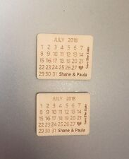 Personalised Calendar Save The Date Fridge Magnets