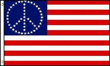 USA American Flag with Peace Sign Symbol Hippie Banner United States 3x5 New