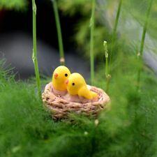 Lovely Bird Nest Figurine Mini Home Décor Garden Miniatures Animal Ornament New