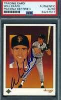 Will Clark PSA DNA Coa Autograph 1989 Upper Deck #678 Hand Signed