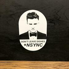 NSYNC KITCHEN JUSTIN TIMBERLAKE GAG FUNNY GIFT Lasered Door Wall Sign Plaque