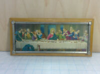 Vintage Antique ART DECO Catholic Jesus Christ LAST SUPPER Religious WALL ART