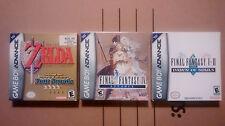 Game Boy Advance Legend of Zelda Four Swords, Final Fantasy Dawn Of Souls & IV