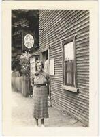 Woman at the Seven Gables Shop Salem Massachusetts Vintage Snapshot
